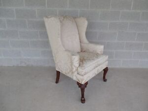 Thomasville Chippendale Style Wing Back Accent Chair