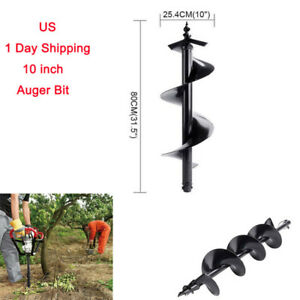 10 Earth Auger Bits For Gas Powered Post Hole Digger Soil Drill