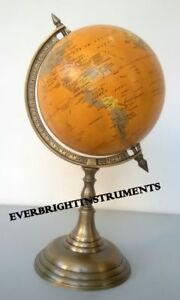 Decorative Antique Style Globe World Table Desk Stand Vintage In Antique Finish