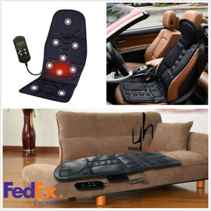 Car Seat Massage Pad Chair Heated Cushion Neck Pain Lumbar Support Pad Us Stock