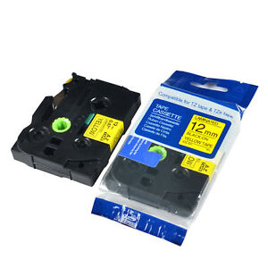 20pk Tz631 Tze631 Black On Yellow Label Tape For Brother P touch Pt p700 1 2