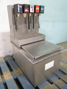 stainless Ice tainer Co H d Commercial Drop in Insert 5 Heads Soda Dispenser