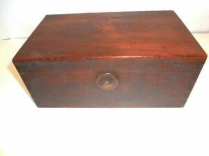 Wood Box Early 1900 S Wood Box W Dove Tailed Joints W Replaced Bottom