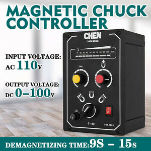 Electro Magnetic Chuck Controller 110v 5a Magnetic Force Add on Adjustable