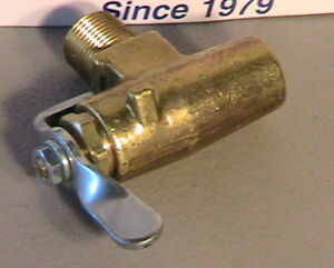 Late 1931 Model A Ford Indented Firewall Gas Shutoff Valve Usa Made