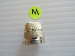 Shiny Sterling Silver Sewing Thimble Birmingham England Hallmark