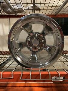 15x10 Ridler Gasser Halibrand Mag Rat Hot Rod Style Polish Aluminum Wheel 5x4 75