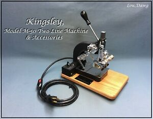 Kingsley Machine Model M 50 Two Line Accessories Hot Foil Stamping Machine