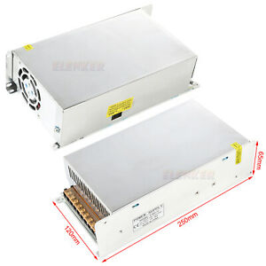 2x 600w Dc 12v 50a Regulated Transformer Power Supply Driver For Led Strip Light