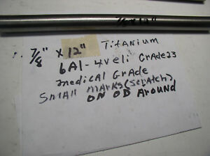 7 8 titanium Round Rod 7 8 Dia x 12 Or Longer Medical Grade 6al 4veli 23