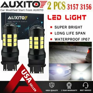 2x Auxito 3156 3057 3157 Led Backup Reverse Light Bulb Xenon White 75 smd Edo