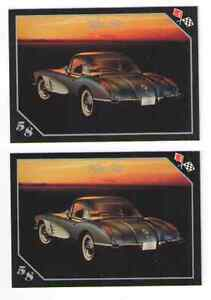 1958 Chevy Corvette Baseball Card Sized Cards Lot Of 2 Must See