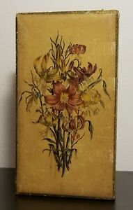 Vintage Florentine Treasures Jewelry Box Italian Flowers Gilt Made In Italy