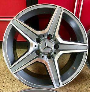 Mercedes Cla63 17 In Gunmetal Rims Wheels Set4 New Exclusive Cla250 Fit Amg