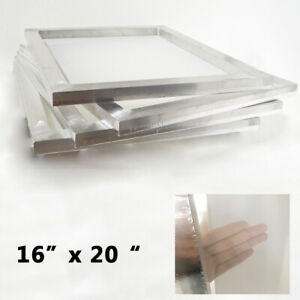 4 Pcs 16 X 20 Aluminum Screen Frame With 80 Mesh Fabric Shirt Press Supply