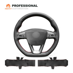 Top Leather Steering Wheel Cover For Seat Leon Cupra St Ateca Cupra Ibiza Cupra