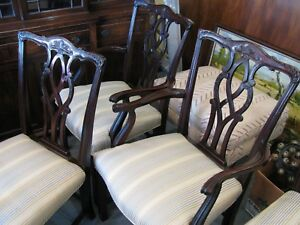 Mahogany Vintage Dining Room Chairs Six Clean Very Sturdy Pick Up Only