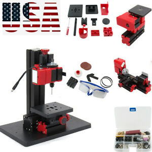 6in1 Multifunction Jigsaw Drilling Sanding Wood turning Lathe Milling Machine Us