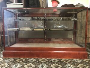 Vintage Antique Wood And Glass Store Display Case 72 W X 42 H X 24 D
