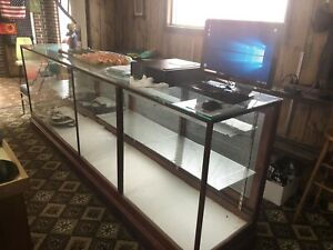 Vintage Antique Wood And Glass Store Display Case 118 W X 42 H X 24 D
