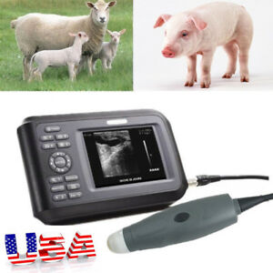 A vet Ultrasound Scanner Machine rectal Probe Pet Pig Pregnancy dust water proof
