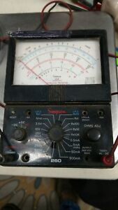 Original Simpson 260 Analog Multimeter 1000v 10a 20m Ohms