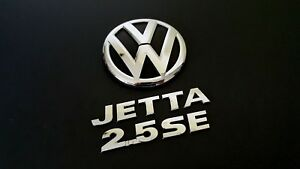 2011 Vw Jetta 2 5se Rear Trunk Oem Emblem Badge Set Symbol 11 12 13 14 15 16