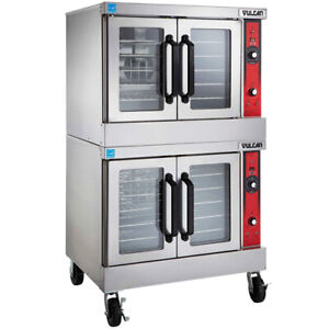 Vulcan Vc55e Electric Convection Oven Double Stack 208v With Legs
