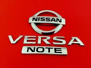 14 15 16 Nissan Versa Note Rear Lid Emblem Badge Symbol Logo Sign Set Oem 2014