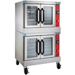 Vulcan Vc44ed 2 Deck Electric Convection Oven Standard Depth 240v With Casters