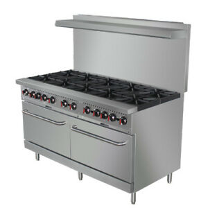 Value Series Cr10 60 10 Burner Lp Gas Range With Free Casters And Oven Rack