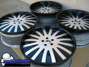 22 Forgiato Audace Black Machined Wheels Rims Mercury Marauder 22x9 22x10 5