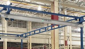 Gorbel Aluminum 250 Lb Capacity 16ft Bridge Crane I beam