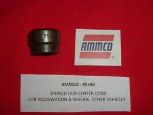 Ammco 5796 Fits 1 Arbor Splined Hub Center Cone Adapter For Vw