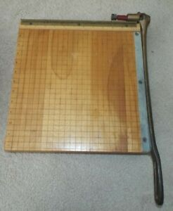 Vintage Ingento No 4 Guillotine Paper Cutter Trimmer 12 X 12 Made In U s a