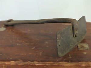 Early Antique 18th C Pa Dough Scraper Wrought Iron Long Rat Tail Folk Art 2