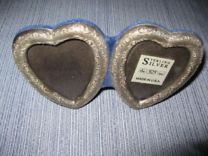 Sterling Double Photo Heart Frame Never Used