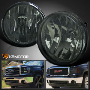 Gmc 07 13 Sierra 1500 2500hd 3500hd Pickup Smoke Bumper Fog Lights Switch Bulbs