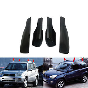 Black Roof Rack Cover Rail Replace For Toyota Rav4 Xa20 2001 2005 End Shell