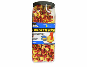 Ideal 30 644j Twister Pro 344 Wire Connector Red yellow 18 10 Jug Of 500