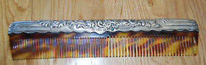 J E Caldwell Hair Comb Sterling Silver Good Condition Older Ornate