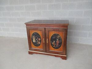 Drexel Et Cetera Chinoiserie Decorated Media Cabinet Console