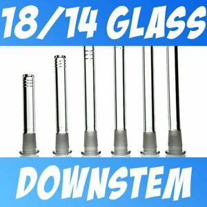 Pyrex Glass Downstem 18 14 Low Profile For 18mm Female Tubes 2 7 Cut Diffy
