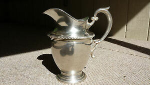 Beautiful Sterling Silver Pitcher By Hunt Silver Company 1930 S 1954