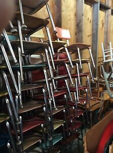 Vtg 57 Heywood Wakefield Hey Woodite Childrens Size Chairs Colors Very Good