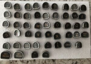 Lot Of Royal Typewriter Glass Keys Only For Craft Other