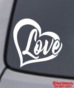 Love Heart Symbol Vinyl Decal Car Window Bumper Sticker Family Infinity Forever
