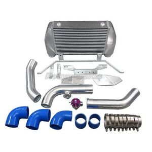 Front Mount Intercooler Bov Kit Fits Mazda Rx7 Rx 7 Fd Single Or Stock Turbo