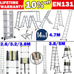 Aluminium Ladders Telescoping Multi purpose Extension Folding Step Ladder