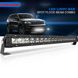 20 Inch Ultra Slim High Output Led Work Light Bar Single Row Combo Beam Offroad